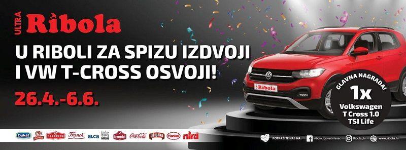 Ribola nagradna igra 2021: Osvoji automobil Volkswagen T-CROSS