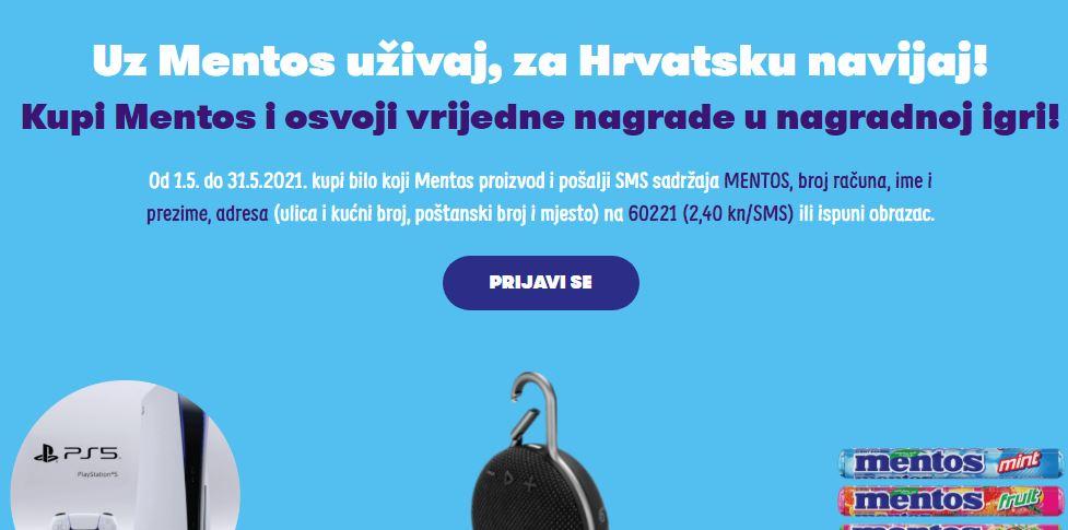 Mentos nagradna igra 2021: Uz Mentos uživaj, za Hrvatsku navijaj!